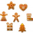 Gingerbread cookies — Stock Vector