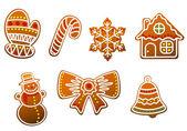 Gingerbread cookies set — Stock Vector
