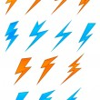 Stock Vector: Lightning symbols
