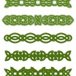 Green celtic ornaments and embellishments — Stock Vector #17392749