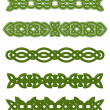 Stock Vector: Green celtic ornaments and embellishments