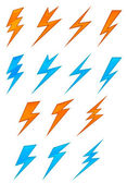 Lightning symbols — Stock Vector