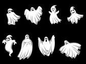 Mystery halloween ghosts — Stock Vector