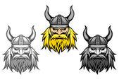 Agressive viking warriors — Stock Vector