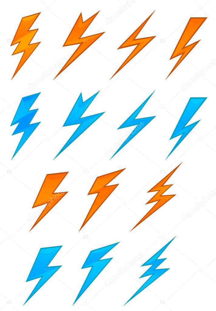 闪电符号 — 图库矢量图像08