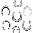 Set of horseshoe icons - Stok Vektör