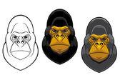 Danger gorilla monkey mascot — Stock Vector