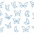 Set of butterfly silhouettes — Stockvectorbeeld