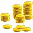 Royalty-Free Stock Vector Image: Many gold coins