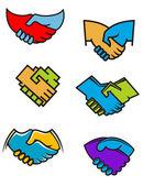 握手符号和图标 — 图库矢量图片