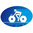 Stock Vector: Bicycle sports, such logo.