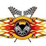 Racing symbol, such a logo — Stock Vector
