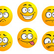 Expression icons and smiles. — 图库矢量图片