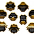 Set of vintage labels for design food and beverages, such logo. Jpeg version also available in gallery — Stock vektor