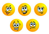 Expression icons and smiles. — Stock Vector