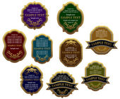 Set of vintage labels for design food and beverages, such logo. Jpeg version also available in gallery — Stock Vector