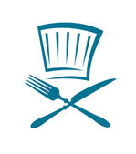 Restaurant and menu symbol, such logo. Jpeg version also available in gallery — Stock Vector