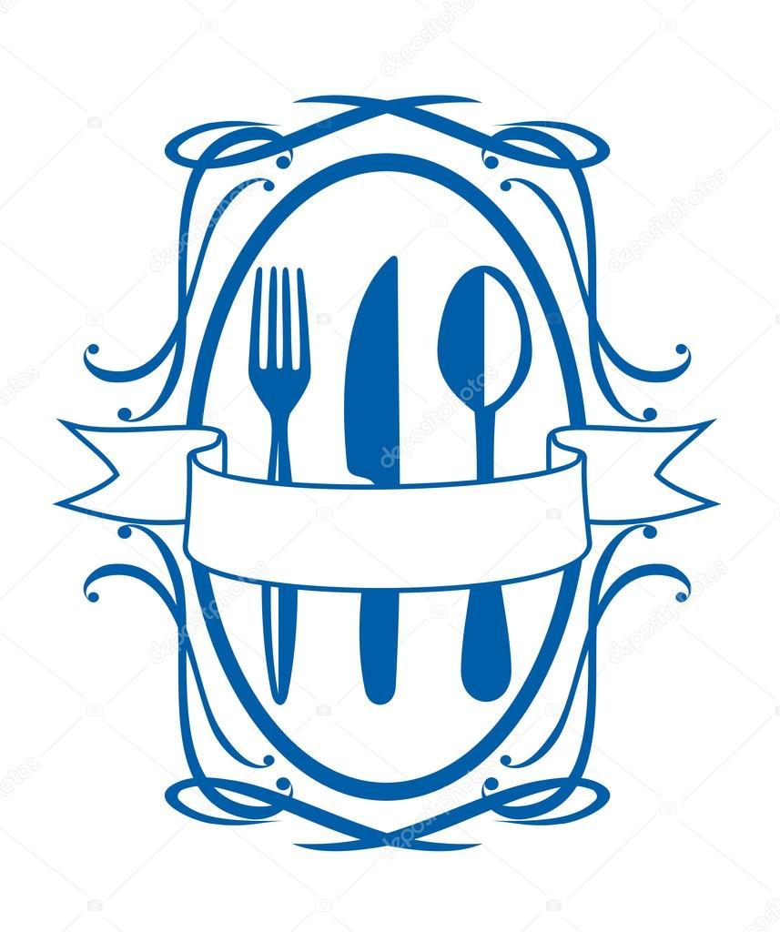 simbolo di menù del ristorante, tale logo. disponibile anche in ...