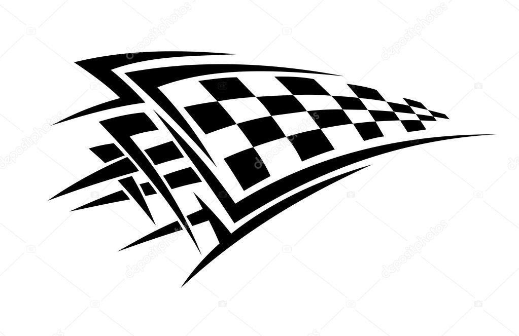Racing Checkered Flag >> Racing flag tattoo — Stock Vector © Seamartini #19252733