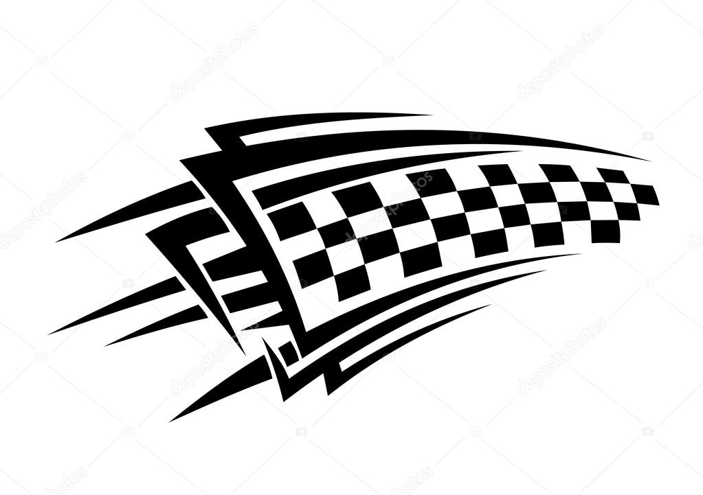race car checkered flag