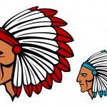 Brave tomahawk mascot — Stock Vector