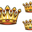 Stock Vector: Royal king crown