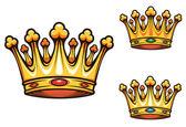 皇家国王皇冠 — 图库矢量图片
