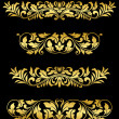 Stock Vector: Retro gold floral elements and embellishments