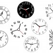 Set of clock dials - Stock Vector