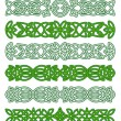 Stock Vector: Green celtic ornament elements