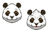 Funny chinese panda bear mascot — Stock Vector