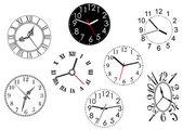 Set of clock dials — Stock Vector