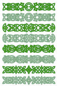 Green celtic ornament elements — Stock Vector
