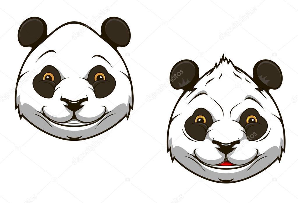 Chinese Panda Vector Funny Chinese Panda Bear Head
