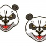 Angry panda bear — Stock Vector