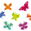 Origami butterflies — Stock Vector