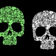 Royalty-Free Stock Vector Image: Floral human skull