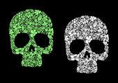 Floral human skull — Stock Vector