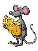 Field mouse with wheat ear and piece of cheese stock for Field mouse cartoon
