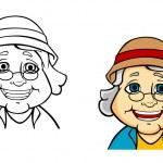 Happy senior grandmother — Stock Vector #23672377