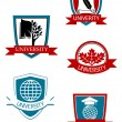Set of university and college symbols - Imagen vectorial