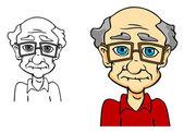 Senior man — Stock Vector