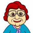 Happiness grandmother — Imagen vectorial