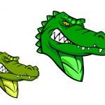 zielony dziki aligator — Wektor stockowy  #23968487