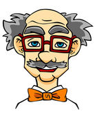 Elderly man in eyeglasses. — Stock Vector