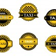 Stock Vector: Taxi symbols and signs