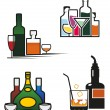 Royalty-Free Stock Vector Image: Alcohol drinks set