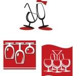 Alcohol glasses for bar menu design — Stock Vector