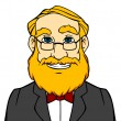 Smiling man with orange beard - Stock vektor