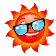 Happy sun in sunglasses — Stock Vector